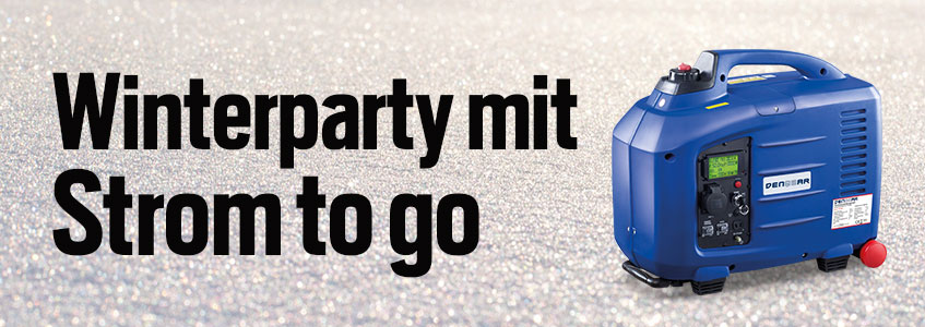 Winterparty mit Strom to go