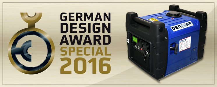 German Design Award Special Mention 2016 für DENQBAR 3600ER