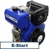 universal diesel engine 418 ccm 7.4 kW (10 HP) 25 mm with E-START 001