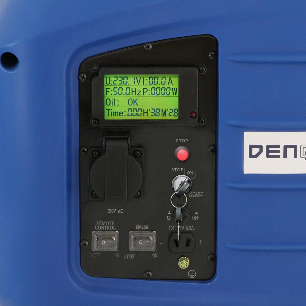 remote e start 2 8 kw digitaler inverter stromerzeuger generator benzinbetrieben inverter. Black Bedroom Furniture Sets. Home Design Ideas